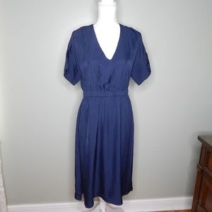everlane women Navy blue dress sz 8